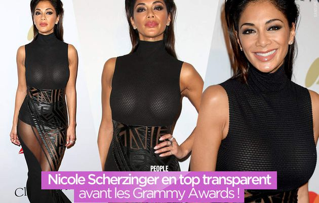 Nicole Scherzinger en top transparent avant les Grammy Awards ! #sexy