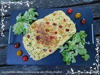 Tortilla coquillettes & tomates cerise