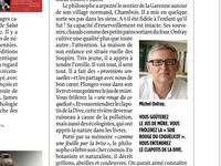 Michel Onfray - LePoint (19.12.2019) & Marianne (20.12.2019)