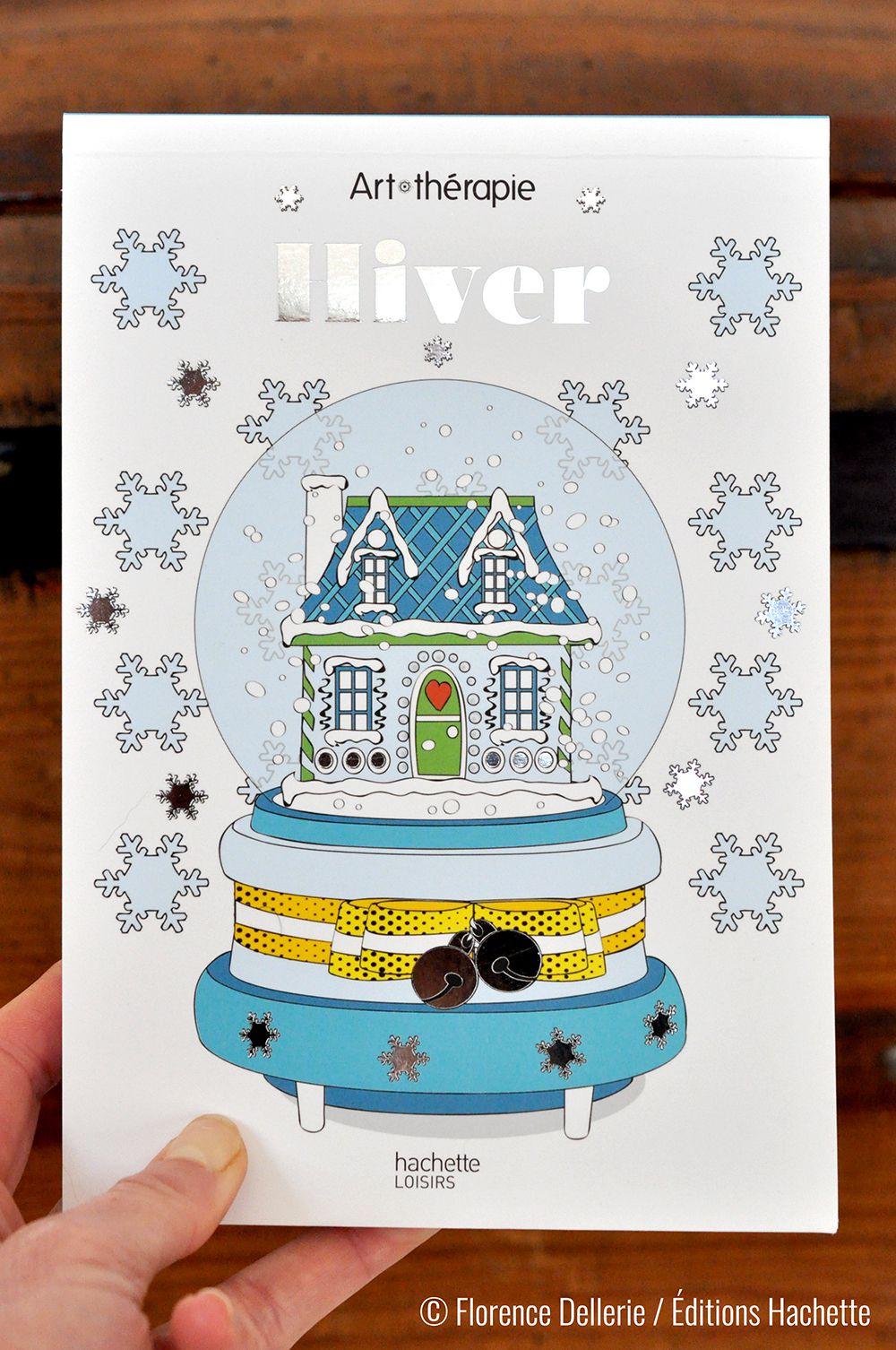 Marques-pages Licornes & bloc Hiver à colorier