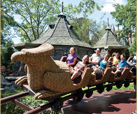 L'attraction le vol de l'Hippogriffe : The Wizarding World of Harry Potter