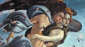 La Primavera di Botticelli. Dettaglio