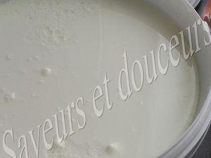 Dans un grand bol mélanger le yaourt et le sel.