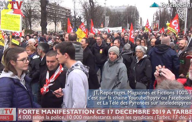La rue reste mobilisée contre la réforme des retraites (17 déc 19) | La Télé des Pyrénées