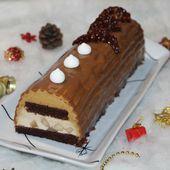 Bûche poire caramel et son glaçage carambar - Chez Vanda