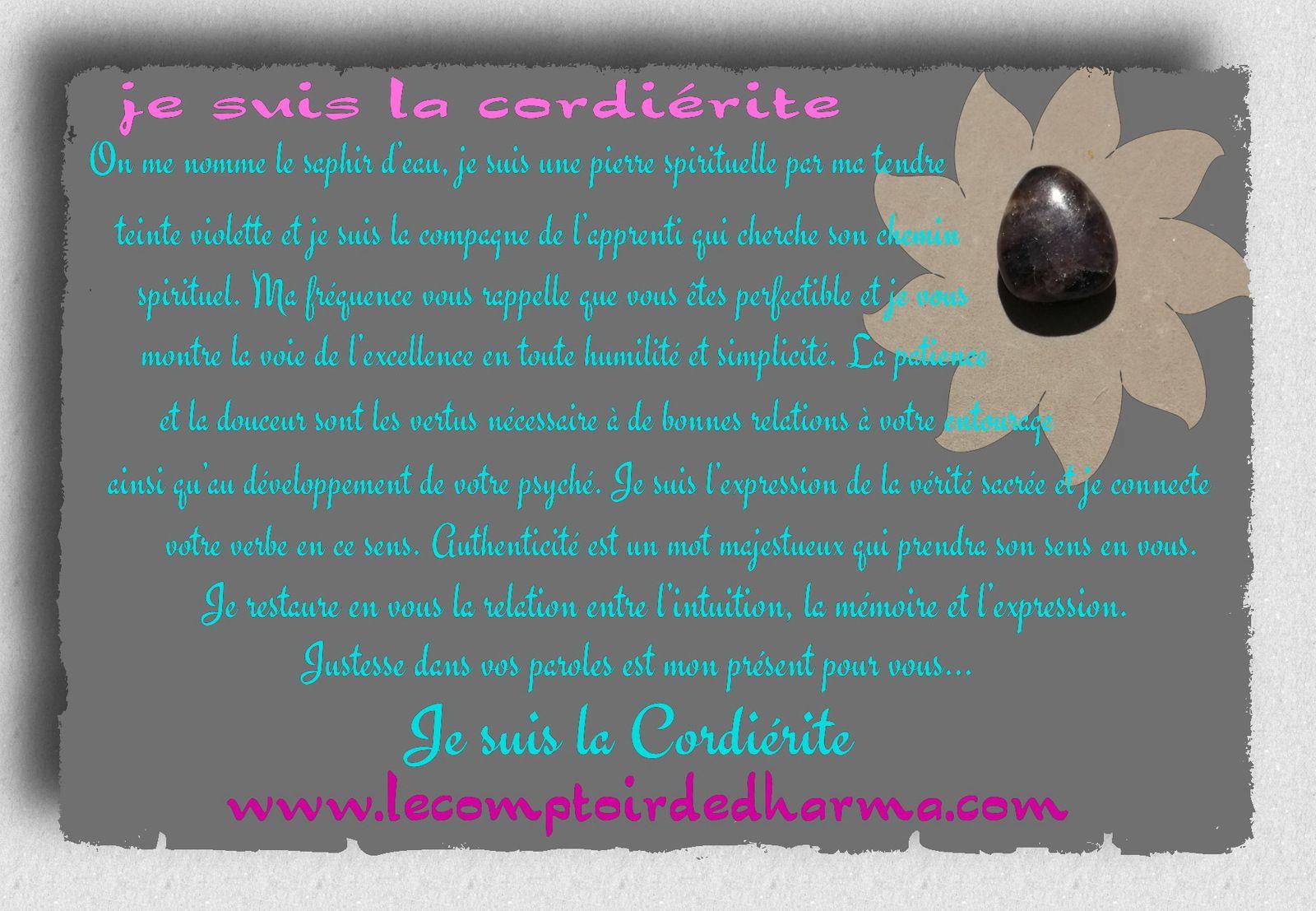 La Cordiérite ou iolite, le Saphir d'Eau