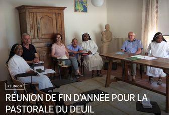 RÉUNION DE FIN D'ANNÉE POUR LA PASTORALE DU DEUIL