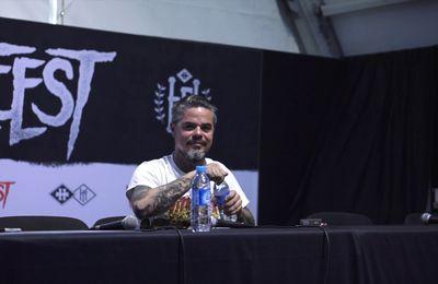 Conference de presse de Ben Barbaud au Hellfest 2017