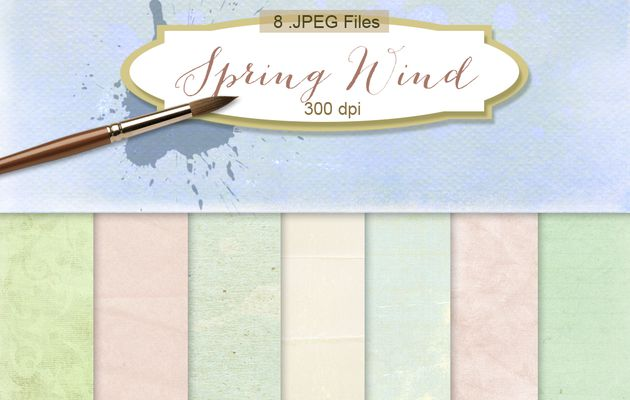 Digital Scrapbook Kit downloads freebies-Spring Wind