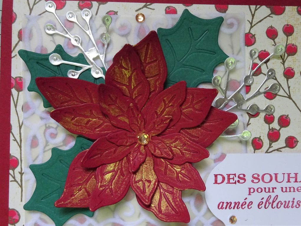 [Stampin'Up!®] Marché du poinsettia: un exemple de carte