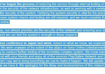 Nouveaux tests de sécurité pour le PSN (MAJ-07-05-2011)