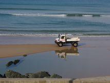 Biarritz #3 (entretien de la plage)
