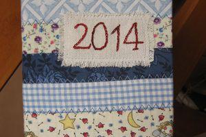 Couverture de semainier en patchwork - idées cadeau