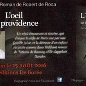 L'œil de la providence de Robert de Rosa, sortie le 25 août 2016 - Bloc notes de Jean-Laurent sur les Spiritualités