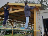 Construction de l'abri à bateaux
