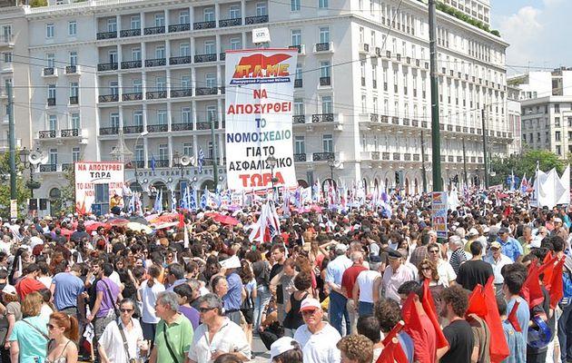 11ème grève en 6 mois en Grèce: la mobilisation menée par le syndicat PAME organiquement lié au Parti Communiste ne faiblit pas, malgré les intimidations!