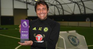 EPL || Antonio Conte, Hazard Named PL Manager/Player Of The Month Of October.