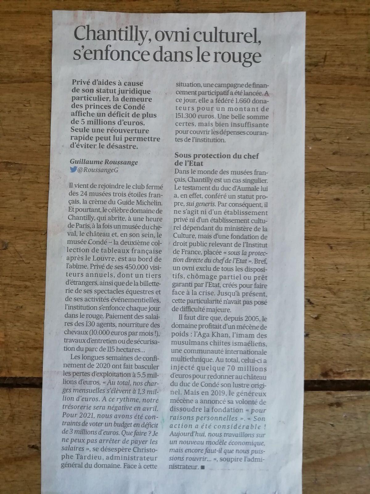 Vu et lu dans Les Echos du 17/02/21
