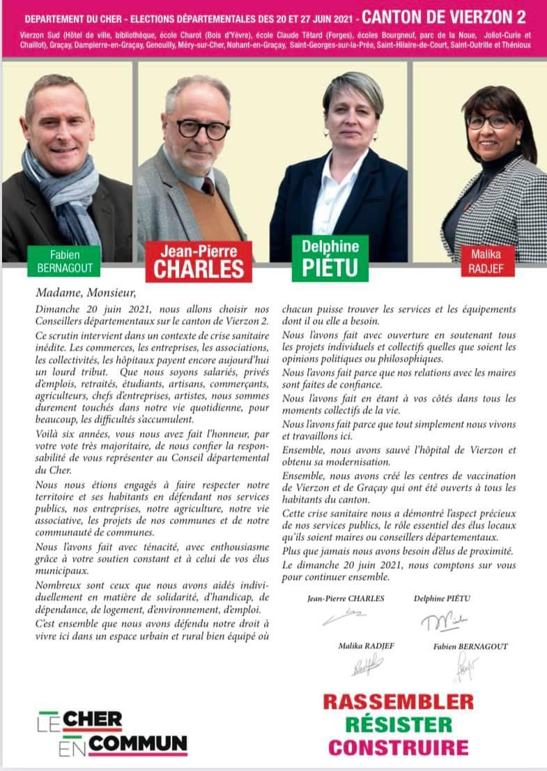 Candidat aux régionales et en même temps aux départementales !