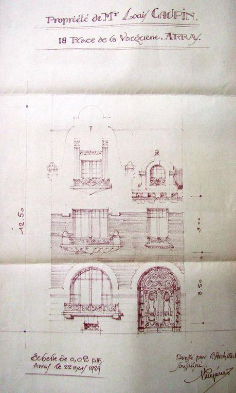 Premier plan, 18 place de la Vacquerie. Mégarès, architecte, 1929 - 18 place de la Vacquerie. Mégarès, architecte, 1929.
