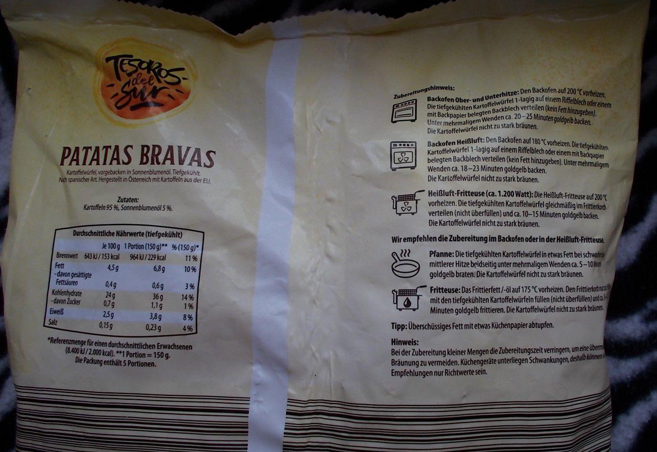 Aldi Tesoros del Sur Patatas Bravas