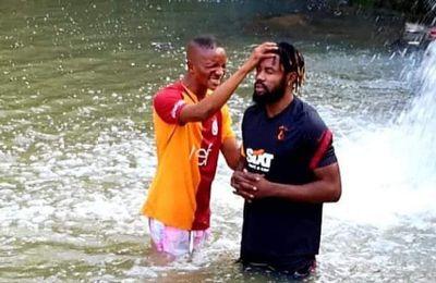 Christian Luyindama a reçu son baptême