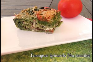 Lasagnes épinards féta tomates