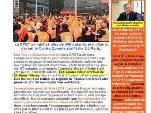 Suite à la manifestation du 15 février, la CFDT continue les démarches pour dénoncer le plan 2022.