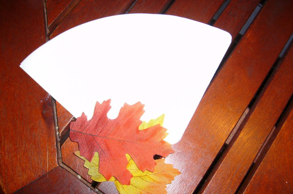 Mes feuilles d'automne en filtre à café
