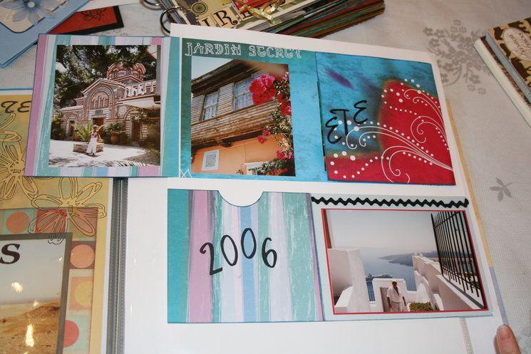 La première partie du diaporama est réservée aux réalisations scrapbooking, la seconde montre une partie des toiles de Martine
