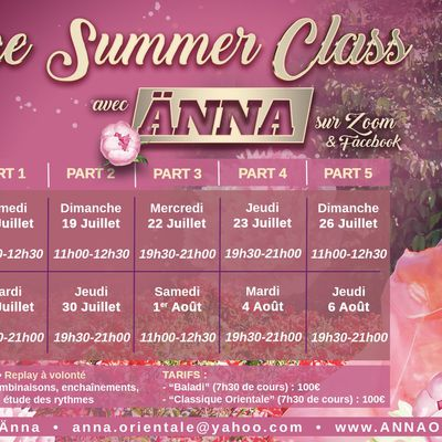 Live Online Summer Workshop avec Änna
