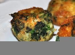 Polpettine di spinaci al forno