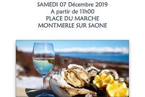 Samedi 7 décembre 2019:Vente et dégustation d' huitres interclasse 8 Montmerloise
