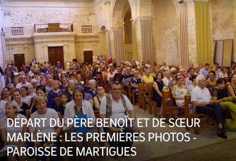 DÉPART DU PÈRE BENOÎT ET DE SŒUR MARLÈNE