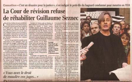 Affaire Seznec : L'arrêt de la Cour de Cassation