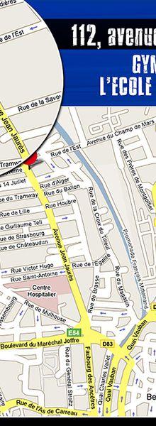 Plan d'accès au 112, rue Jean-Jaurès