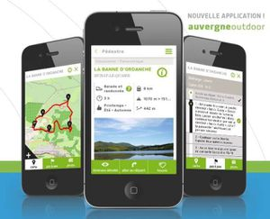 "Application mobile "" outdoor Auvergne """