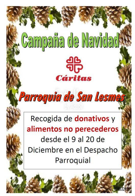 Campaña de Navidad de Cáritas parroquial