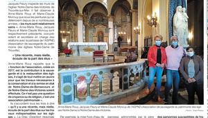 Vu dans la presse: Ils contribuent à préserver les églises de Trouville.