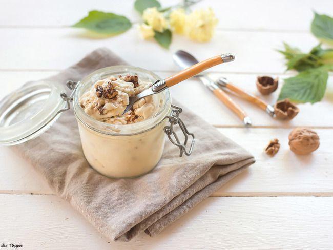 Recette / Glace maison au yaourt de brebis et au miel - pour 4 personnes - prépa 30 mn - congélation 1 h  + idées du CHEF SIMON