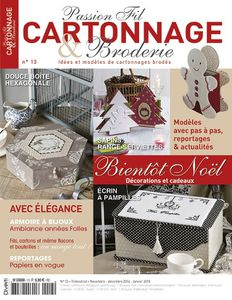 Passion Fil Cartonnage & Broderie n°13 !