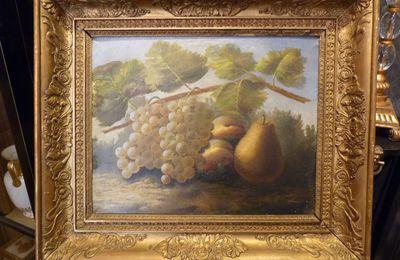 Nature Morte aux raisins, Ecole française, début du 19ème siècle