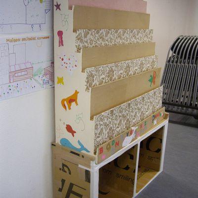 Atelier meubles en carton Maison d'Arrêt : octobre 2019