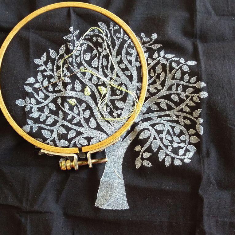 Il a progréssé au fil des jours, donnant naissance à mon arbre de vie. Un beau symbole en ces temps difficiles.