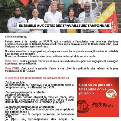 Mairie du tampon - Tract élections FPT
