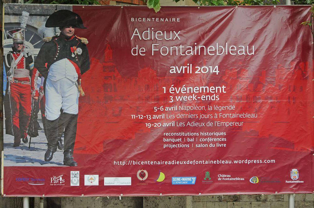 BICENTENAIRE DES ADIEUX DE NAPOLEON A FONTAINEBLEAU ( 19 avril 2014 ) Photographies Didier Simonnet