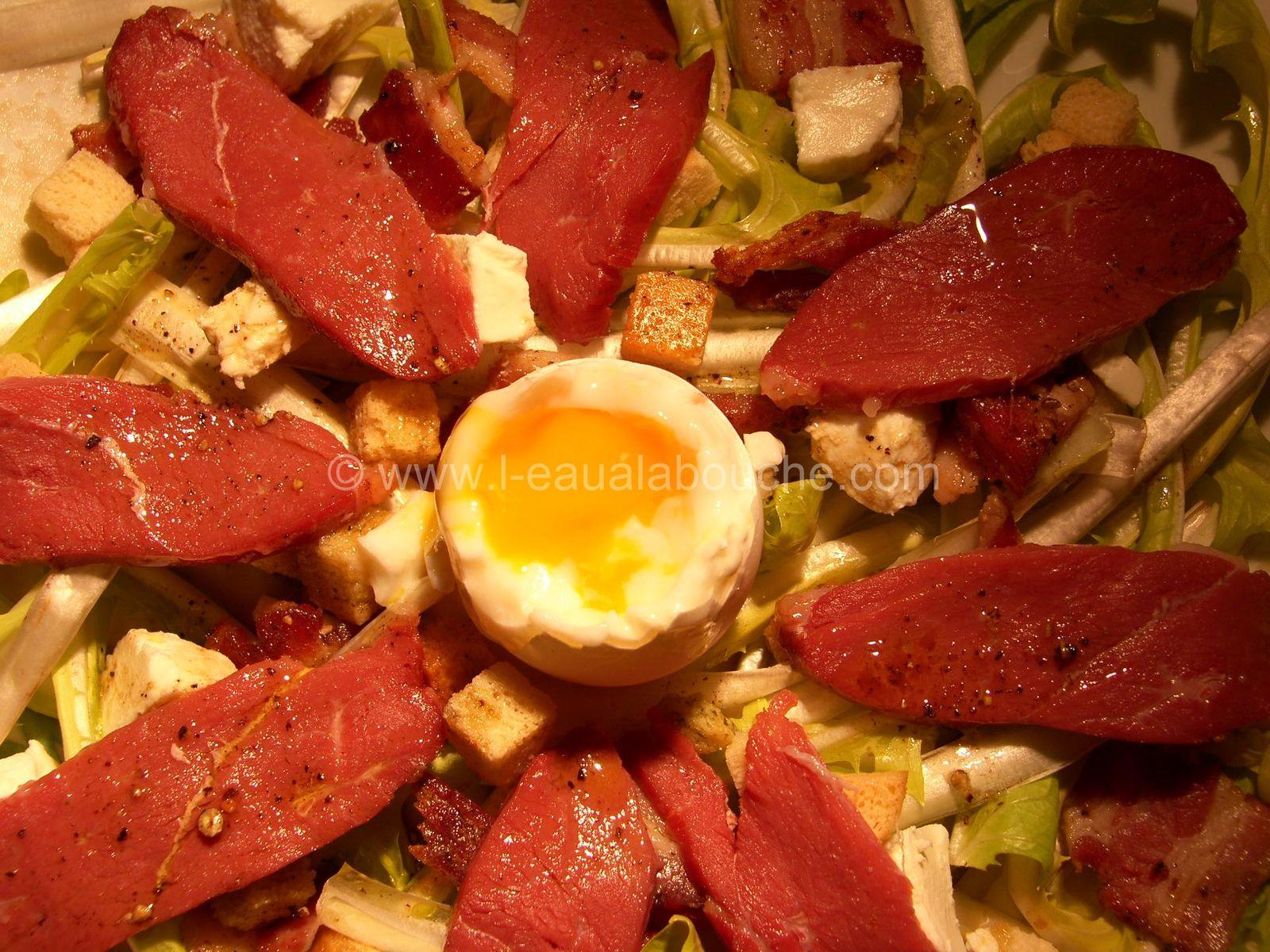 Salade de Pissenlits ou de Dents de Lion  Magret de Canard Fumé
