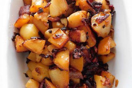 Pommes de terre à l'oignon et aux lardons au Cookeo