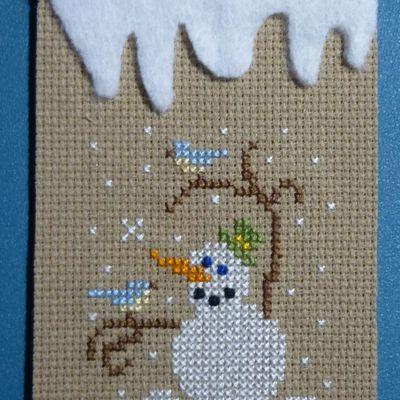 Collection 9 Atc's Bonhommes de neige chez Sandrine / 5.