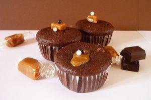 Cupcakes Chocolat Noir & Caramel au Beurre salé
